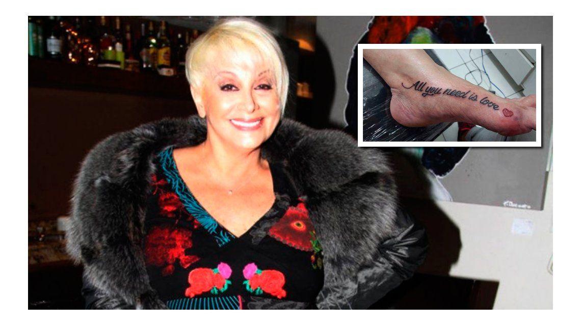 Mirá el nuevo tatuaje de Carmen Barbieri sobre el amor