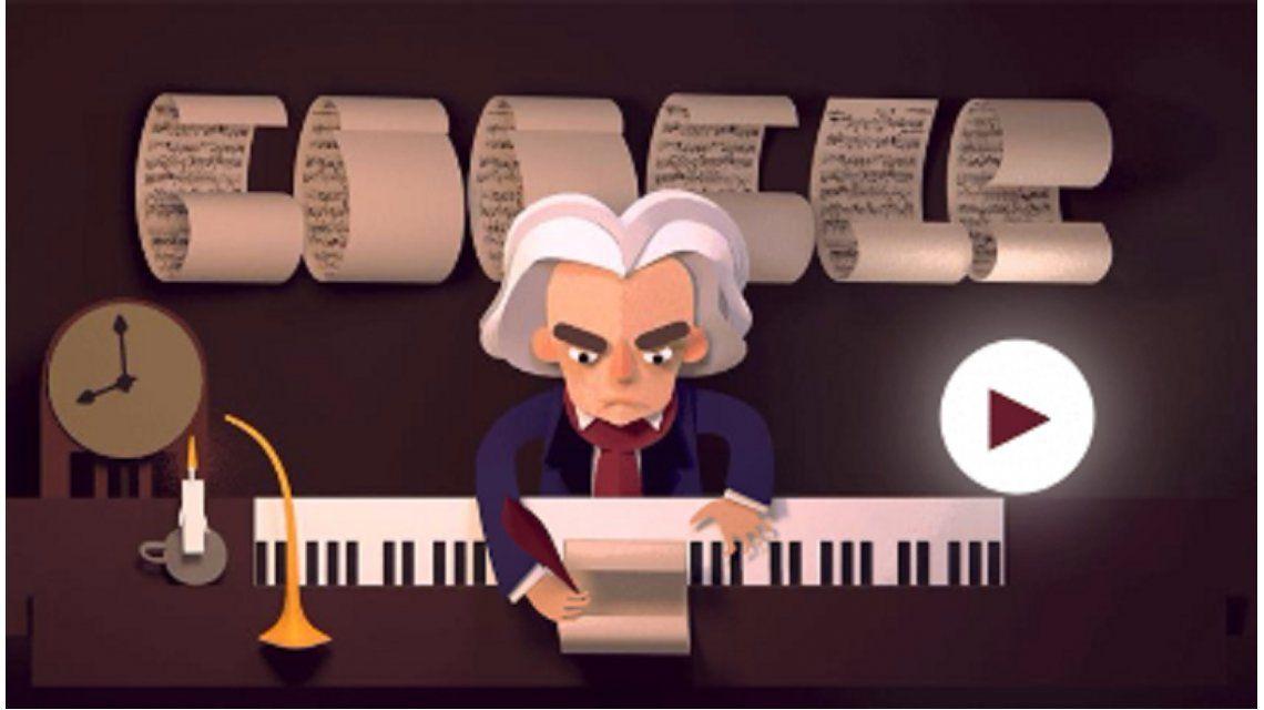 El homenaje de Google a Beethoven por sus 245 años