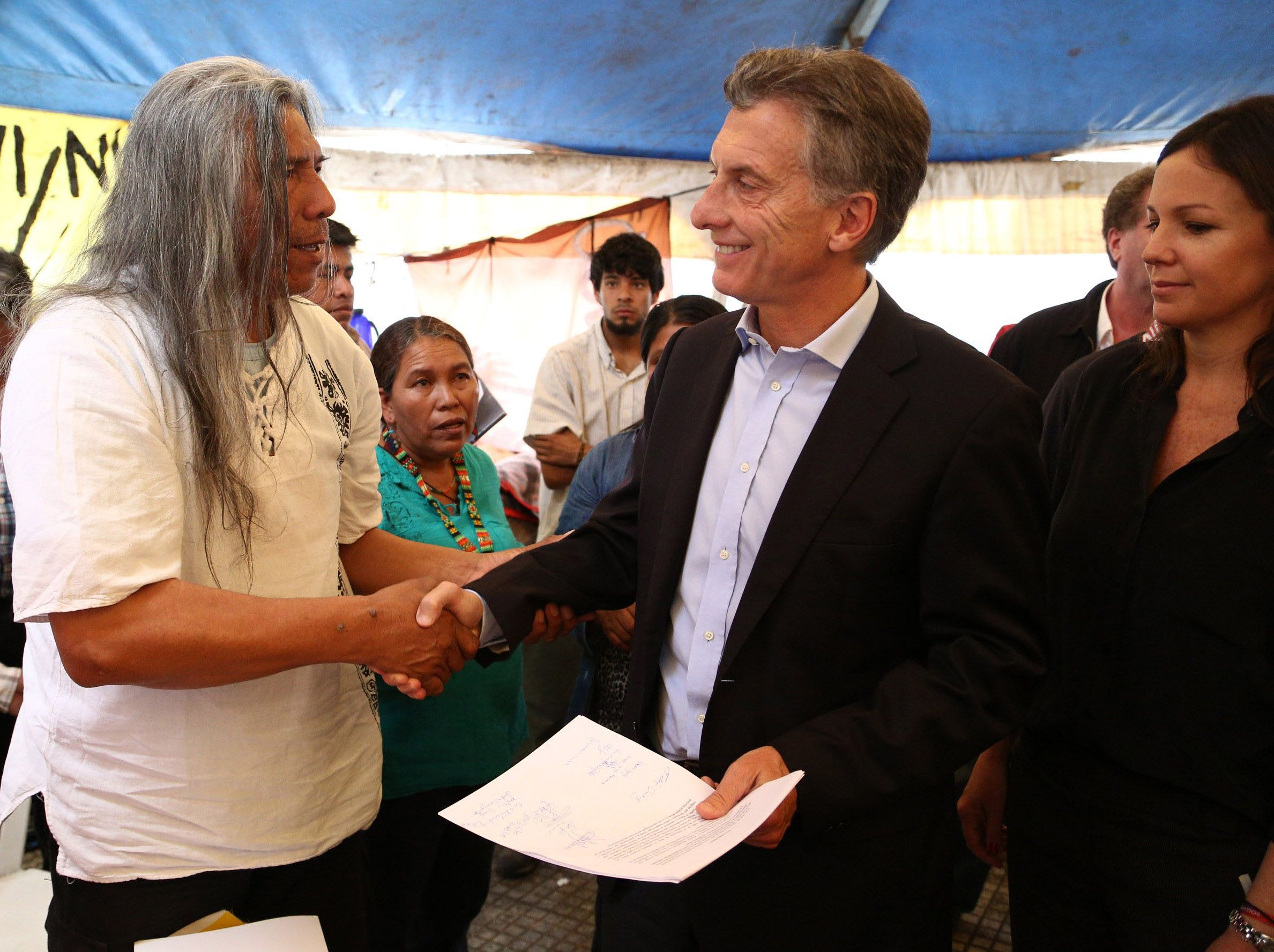 Macri con Felix Díaz