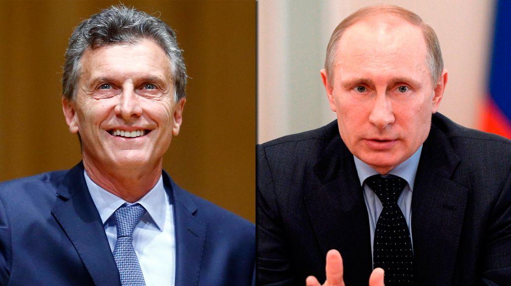 Macri habló con Putin del comercio bilateral y los acuerdos con YPF