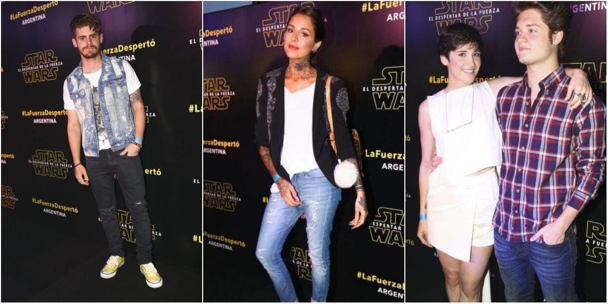 Las fotos de los famosos presentes en la avant premier de Star Wars