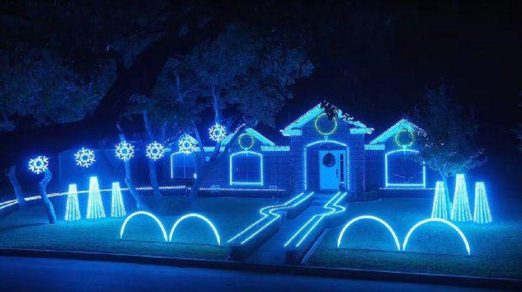 VIDEO: El increíble show de luces navideñas en una casa de Estados Unidos