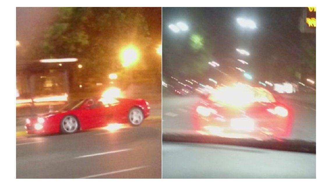 Una Ferrari se prendió fuego en plena Av. Del Libertador