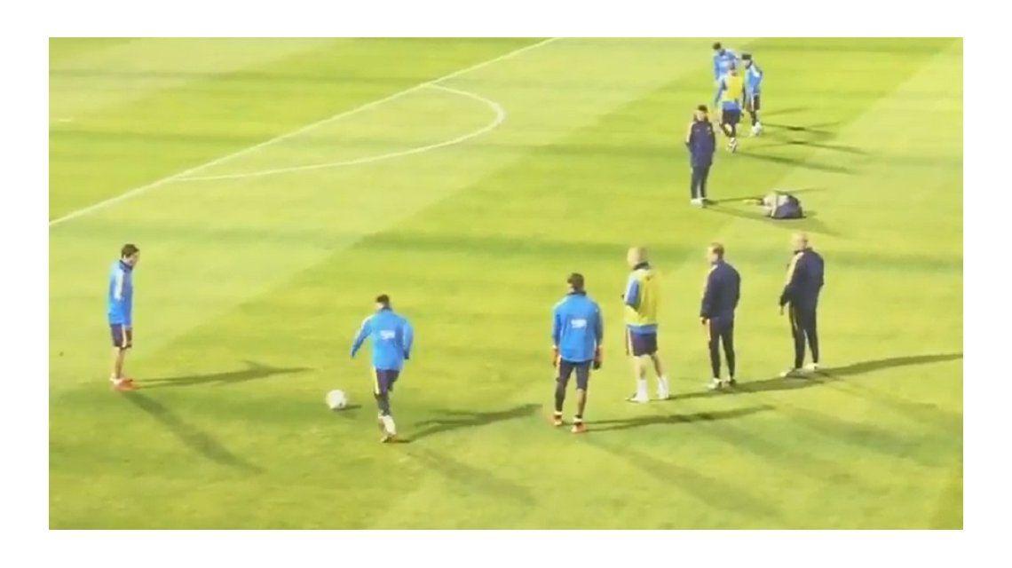 Tiembla River: mirá lo que hizo Messi en su primera práctica en Japón