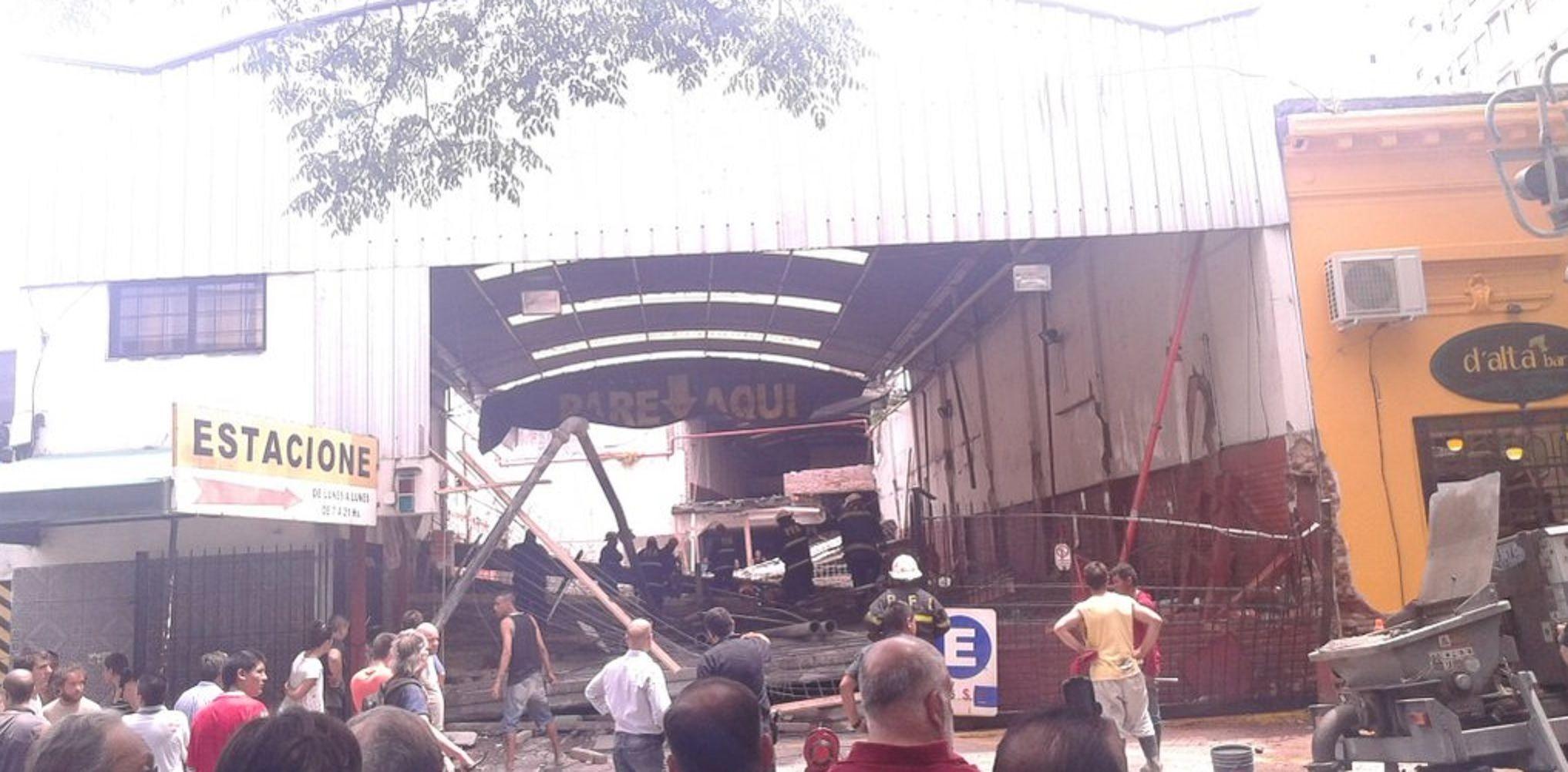 Cayó la loza de un obra en construcción en Barracas: dos personas murieron