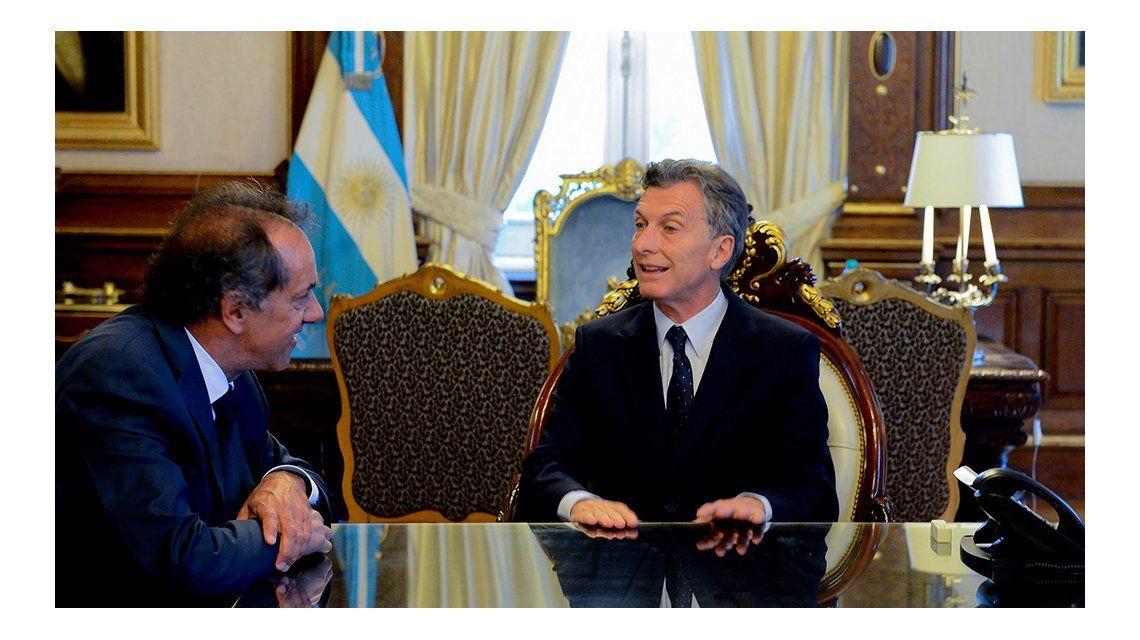 Macri le pidió a Scioli que lo acompañe en alguna salida al exterior para buscar inversores