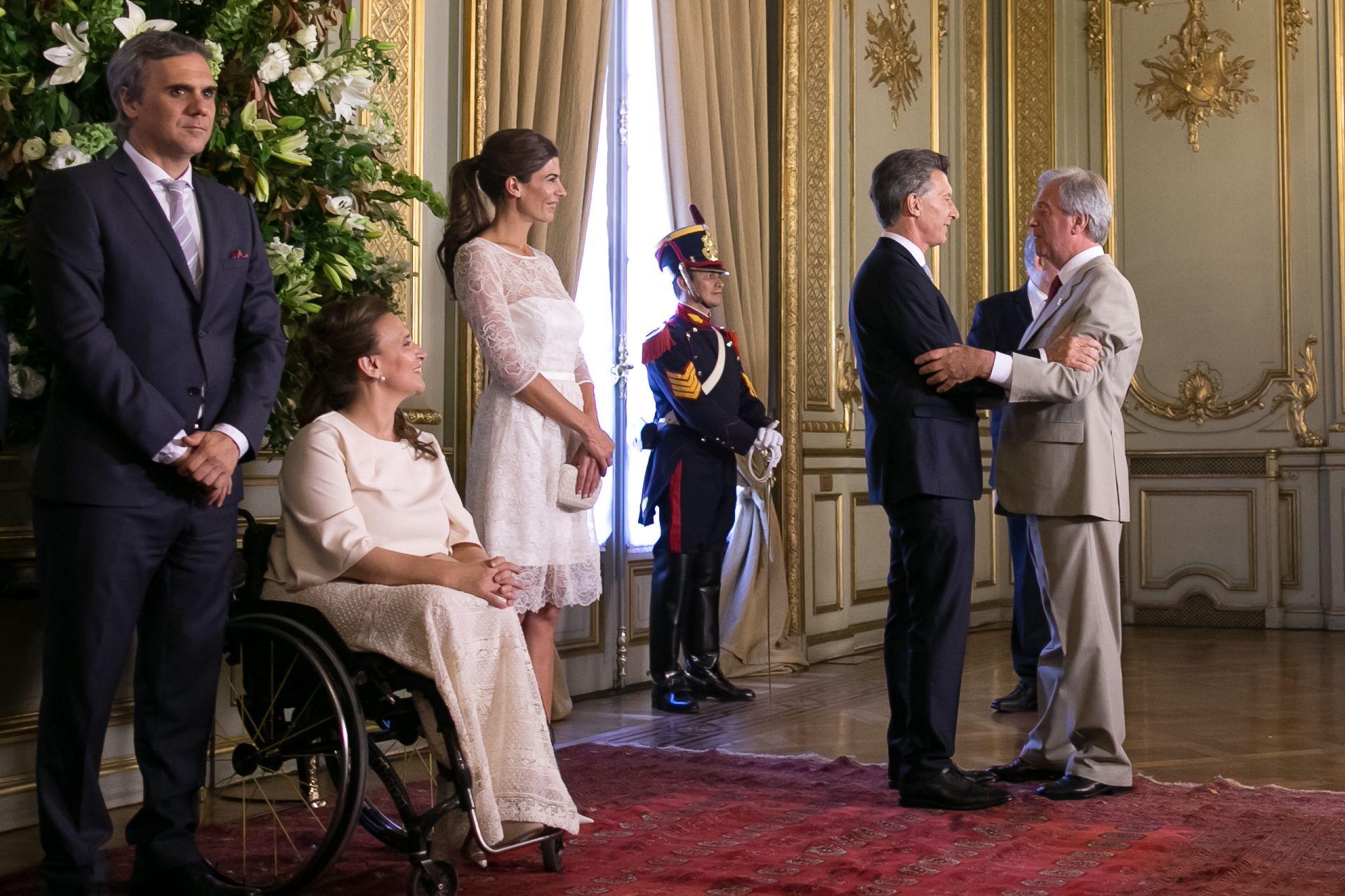 #MacriPresidente saludó a los mandatarios en la Cancillería