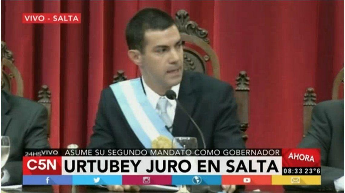 Urtubey asumió por tercera vez como gobernador de Salta
