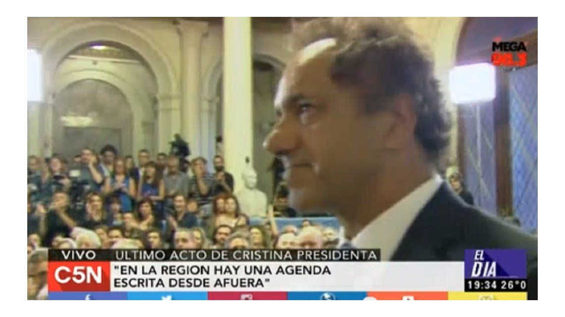 Cristina a Scioli: Gracias Daniel por tu acompañamiento de siempre