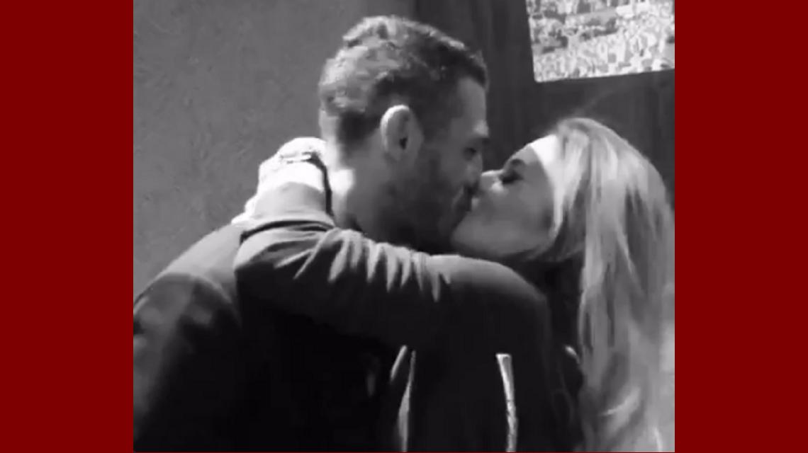 Evangelina Anderson y Martín Demichelis se divierten en las redes sociales: el video del beso express