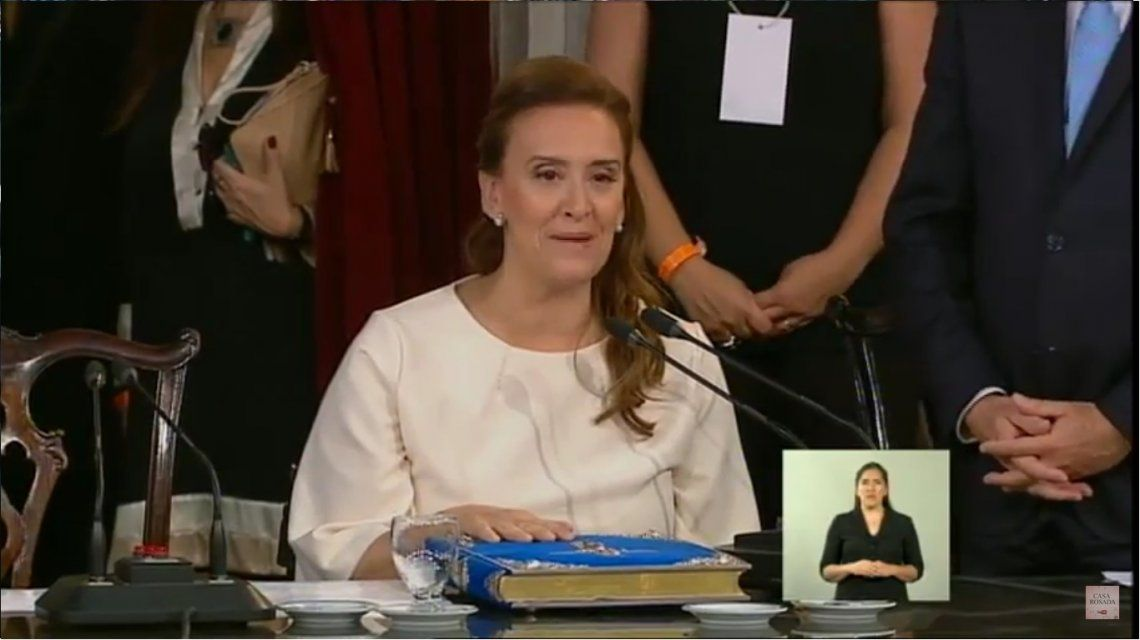 VIDEO: Así juró Gabriela Michetti como vicepresidenta