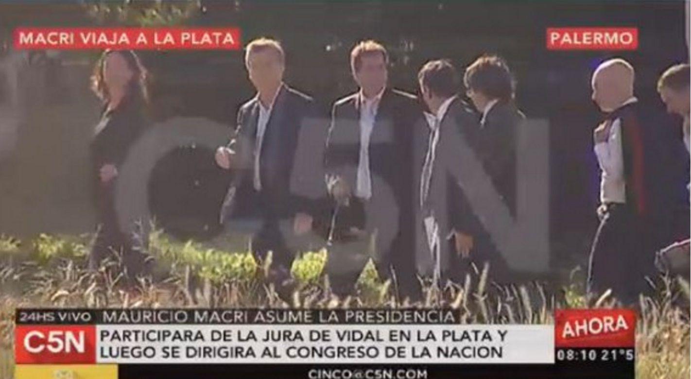 Macri partió hacia La Plata para presenciar la asunción de Vidal