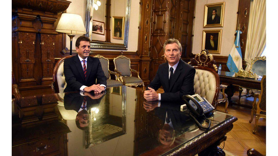 Massa destacó las coincidencias que lo unen a Macri tras su reunión en Casa Rosada