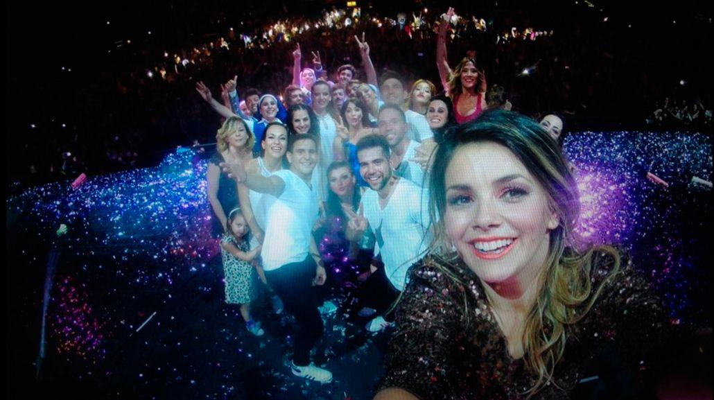 La selfie del elenco de Esperanza Mía en el Luna Park