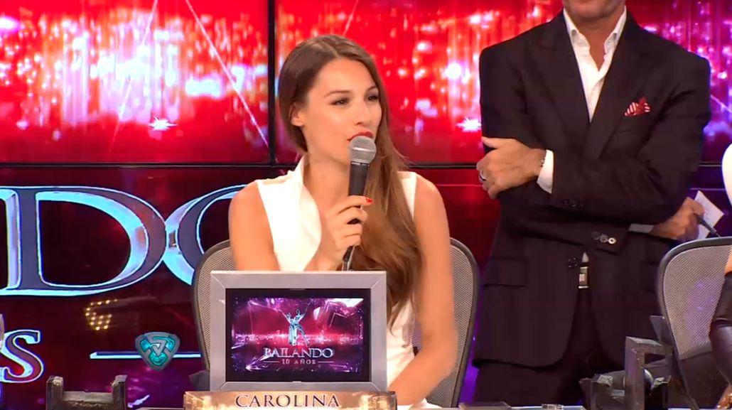 Pampita volvió a ShowMatch y criticó el vestuario de Cinthia Fernández