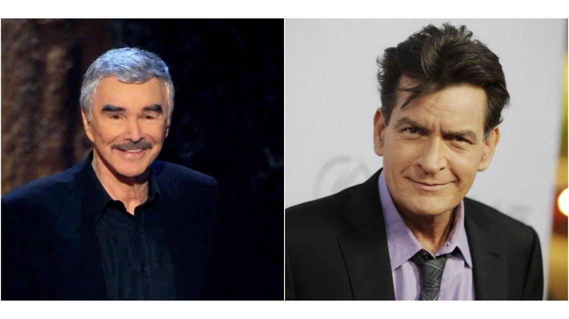 Para Burt Reynolds, Charlie Sheen se merece tener VIH