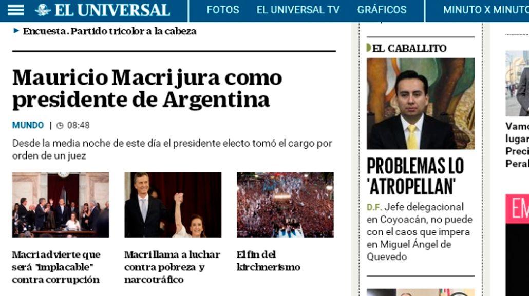 Así reflejaron los medios del mundo la asunción de Macri