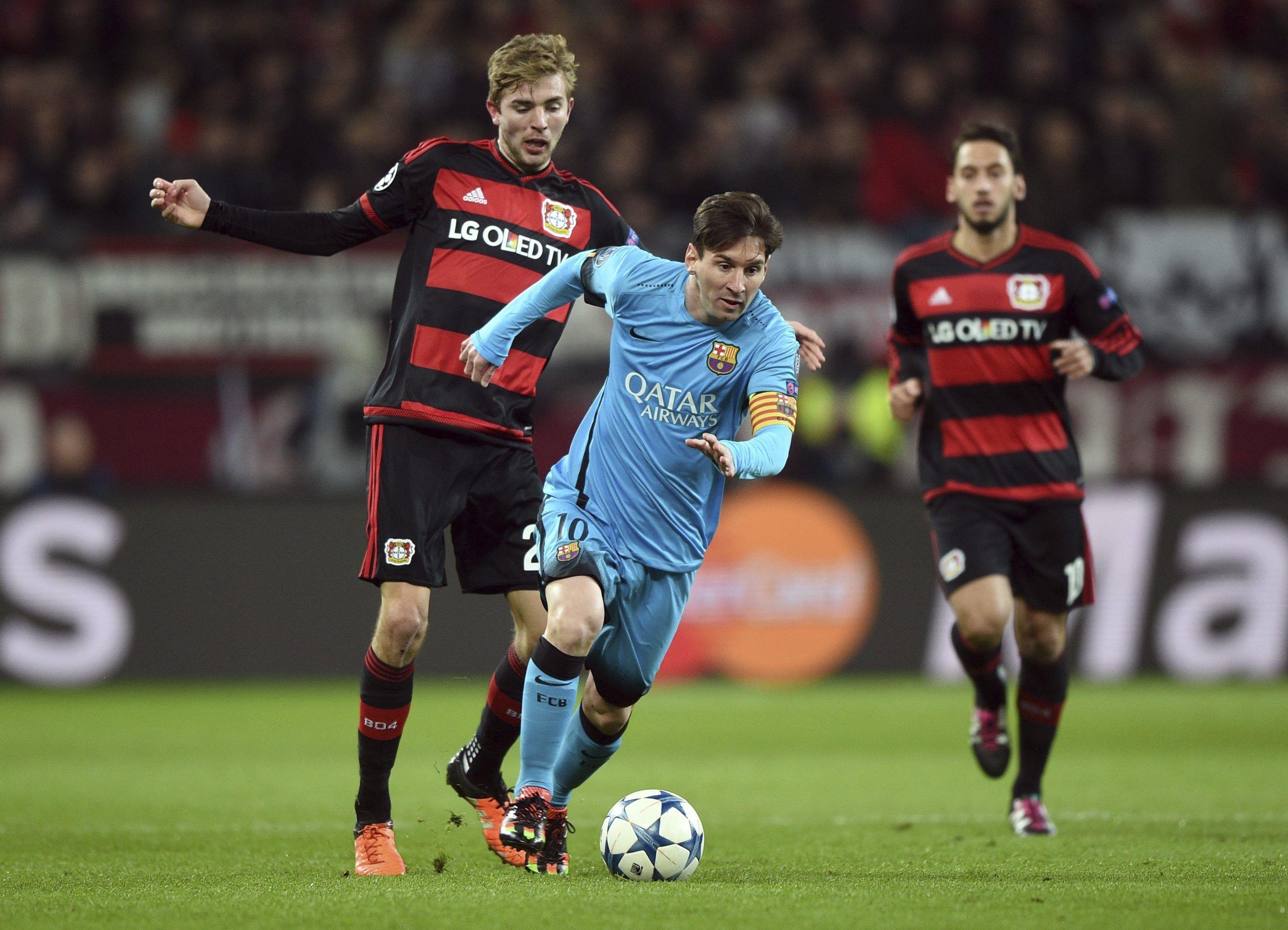 Con suplentes y un gol de Messi, el Barça igualó ante el Leverkusen en Alemania
