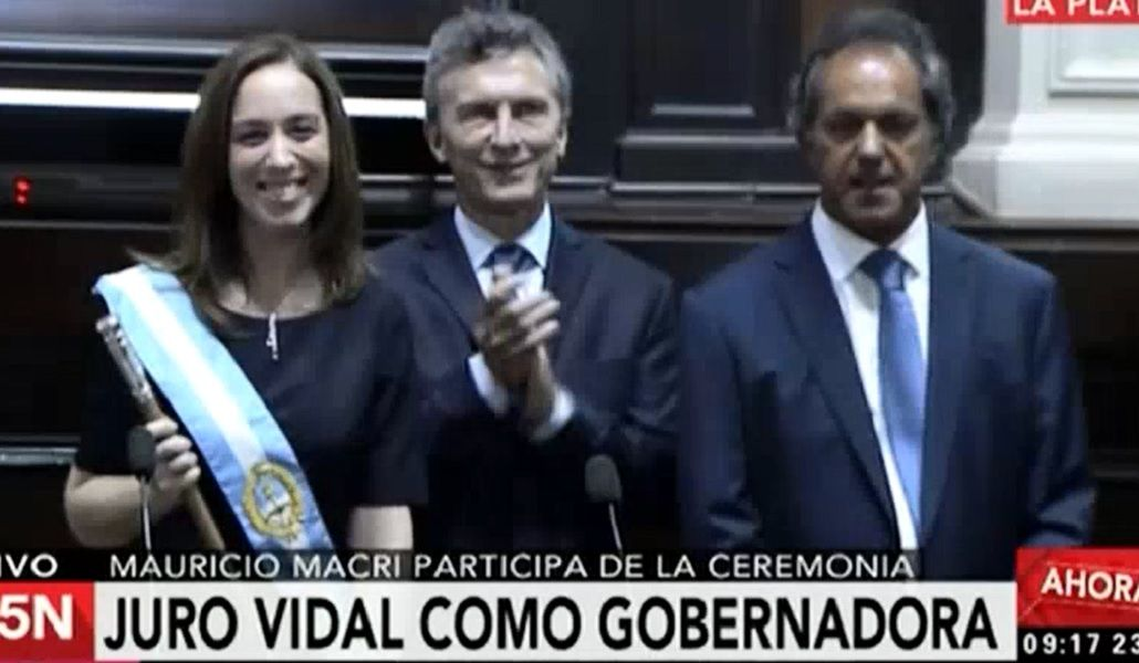 VIDEO: Así fue el traspaso de mando de Scioli a Vidal