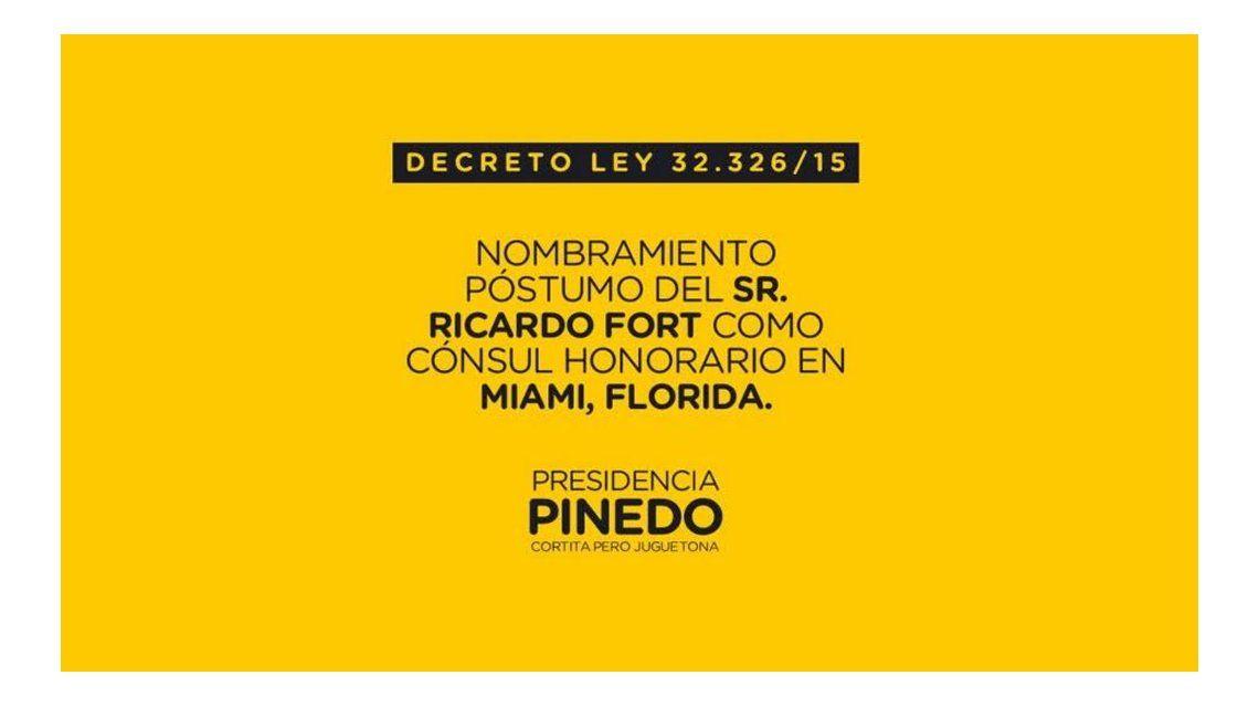 Pinedo será presidente por 12 horas y estallaron los memes en las redes sociales