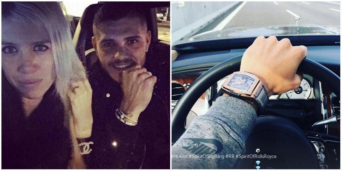 Mauro Icardi publicó una foto de un costoso reloj y días después se lo robaron
