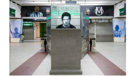 Homenaje a Messi en la estación José Hernández