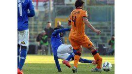 Escalofriante: un jugador fracturó a otro en la B del fútbol italiano