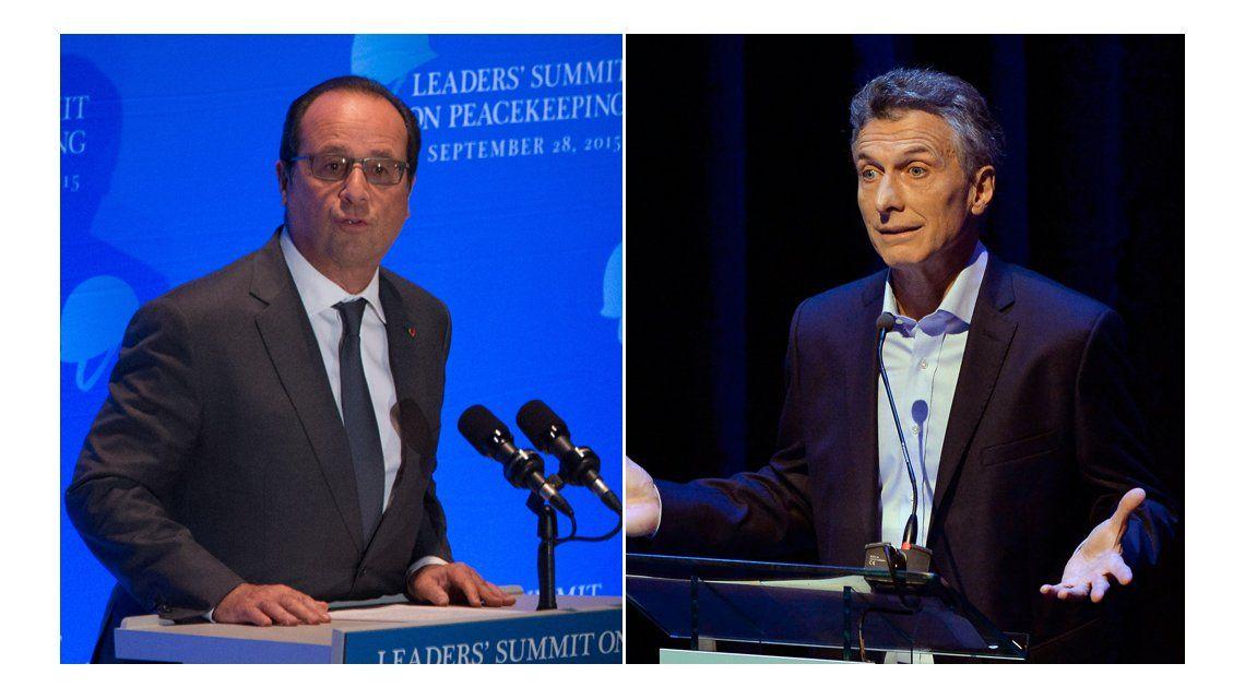 A horas de la reunión con Macri, Hollande promete apoyo para acordar con los buitres