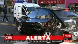 Triple choque en Belgrano: hay dos heridos