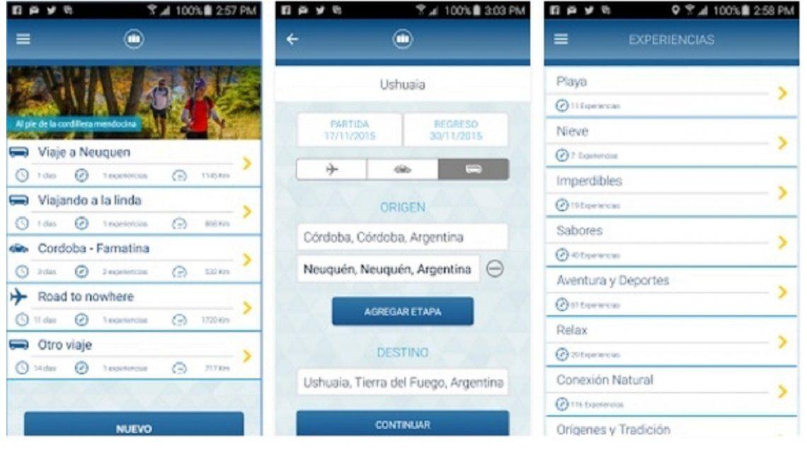 Una nueva app para planificar viajes por Argentina