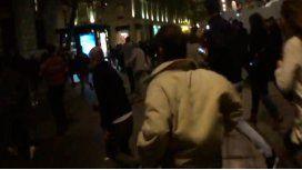 VIDEO: masiva estampida en la Plaza de la República por una falsa alarma
