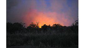 Un incendio de grandes proporciones afecta a la Reserva Ecológica