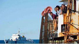 Desapareció la tripulación de un barco chino capturado en Puerto Madryn