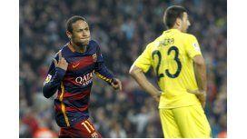 Con un soberbio Neymar, Barcelona derrotó a Villarreal y sigue en lo alto