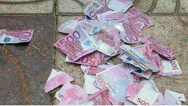 El último deseo: una abuela rompió casi un millón de euros en billetes