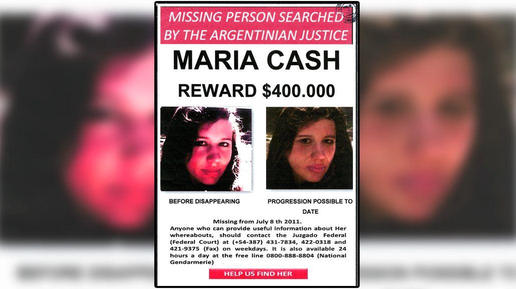 Elevan a $700 mil la recompensa por datos de María Cash