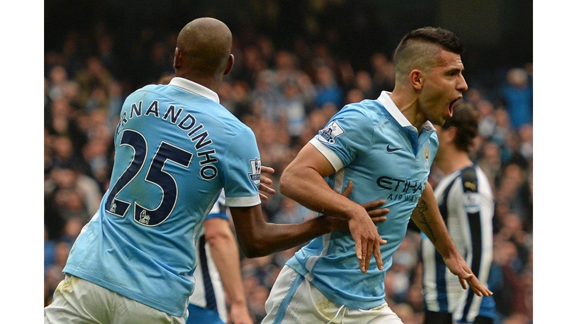 El monólogo de Agüero: marcó cinco goles para el triunfo del Manchester City