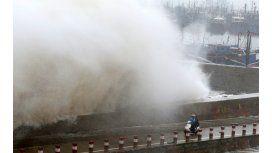 Las imágenes del tifón Mujigae en China