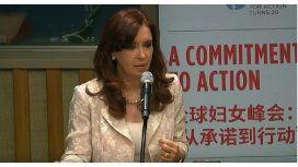Cristina, sobre las mujeres en la ONU: Recibimos críticas sexistas