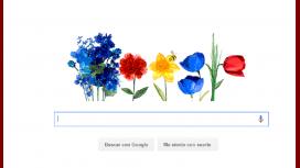 Con un doodle, Google festeja la primavera