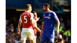 En Inglaterra pasa: Costa fue sancionado de oficio