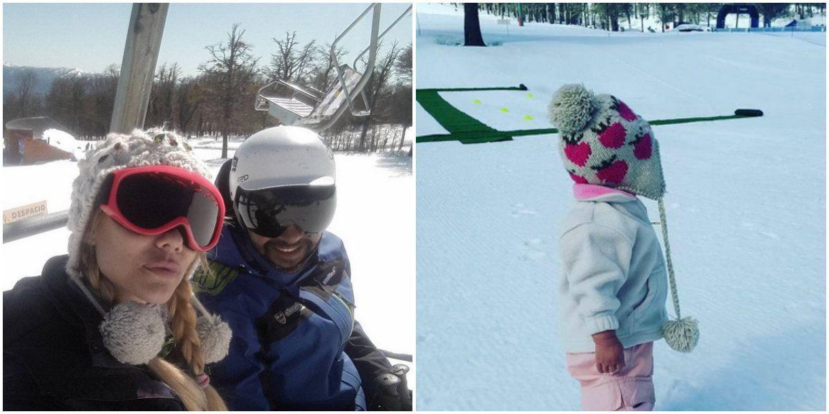 Las vacaciones de Nicole Neumann en la nieve