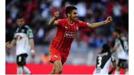 Un agónico gol de Cebolla Rodríguez le dio tres puntos a Independiente