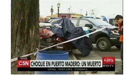 Choque fatal en Puerto Madero