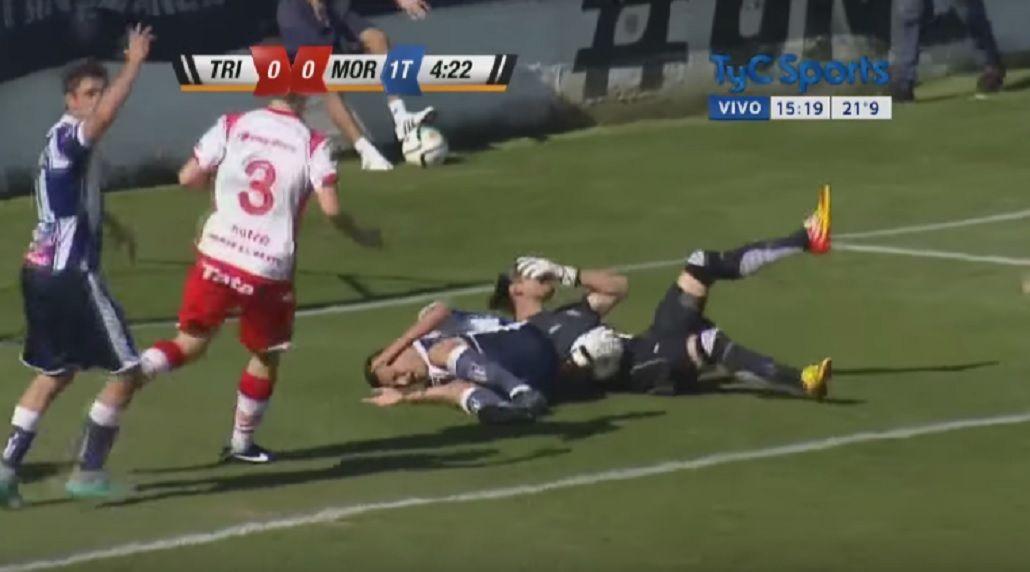 Gritos y dolor: impactante lesión de un jugador en la Primera B