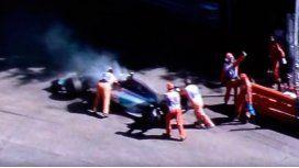 Fórmula 1: llegaba en el podio, pero se le reventó el motor