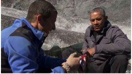 Obama comió restos de un salmón masticado por un oso