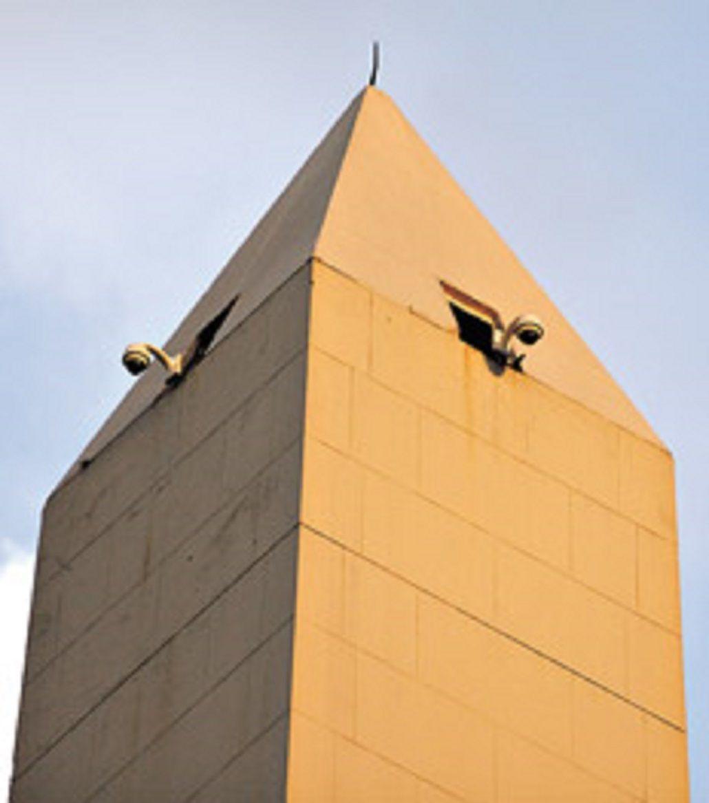 as son las escaleras internas del obelisco