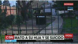 Drama en Moreno: una mujer asfixió a su hija de 10 años y después se suicidó