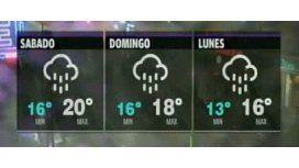 Las lluvias continuarán hasta pasado mañana